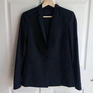 Elie Tahari Black Wool Darcy Blazer Jacket Size 6